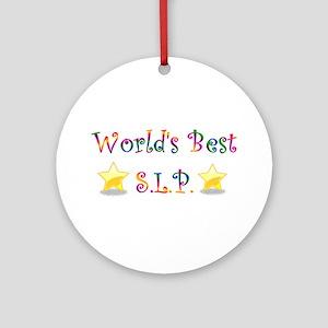 Worlds Best SLP Ornament (Round)