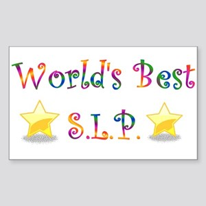 Worlds Best SLP Rectangle Sticker