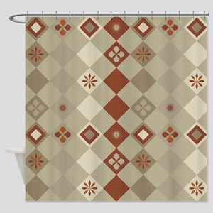 Brown Diamonds Shower Curtain