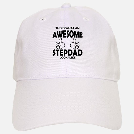 Awesome StepDad Looks Like Baseball Baseball Baseball Cap