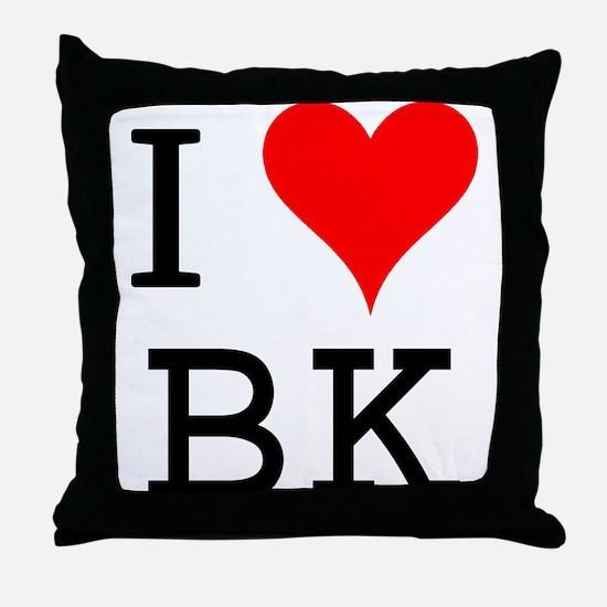 I Love BK Throw Pillow