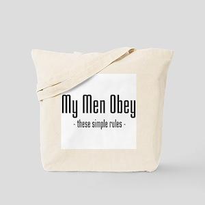My Men Obey Tote Bag