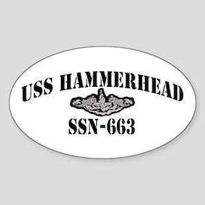 USS HAMMERHEAD Sticker (Oval)