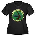USS HAMMERHE Women's Plus Size V-Neck Dark T-Shirt