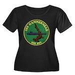 USS HAMM Women's Plus Size Scoop Neck Dark T-Shirt