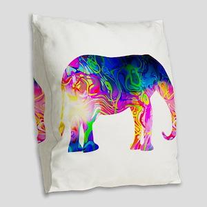 Cool spaghetti Elephant Burlap Throw Pillow