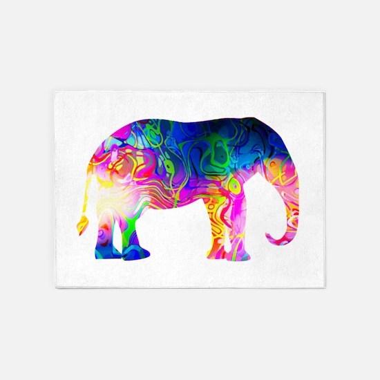 Cool spaghetti Elephant 5'x7'Area Rug