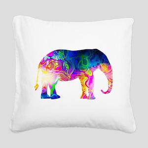 Cool spaghetti Elephant Square Canvas Pillow