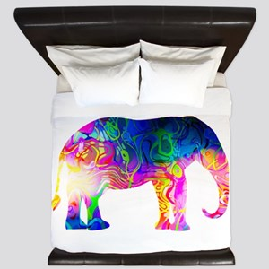 Cool spaghetti Elephant King Duvet