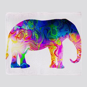 Cool spaghetti Elephant Throw Blanket