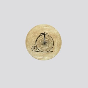 Vintage Penny Farthing Bicycle Mini Button