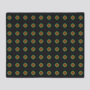 Trippy Dark Pattern Throw Blanket