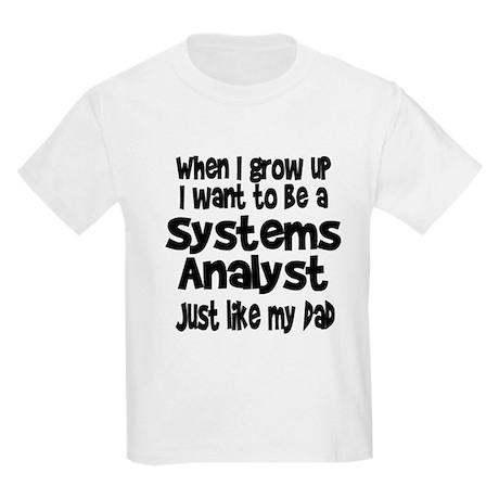 WIGU Systems Analyst Dad Kids Light T-Shirt