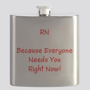 Funny RN Nurse Means Right Now Flask
