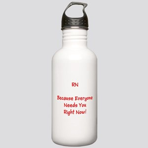 Funny RN Nurse Means Right Now Water Bottle