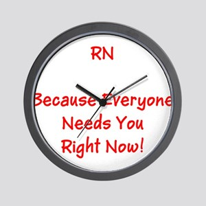 Funny RN Nurse Means Right Now Wall Clock