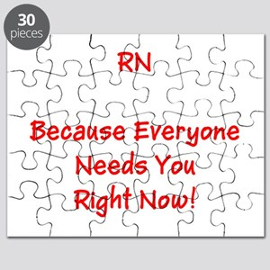 Funny RN Nurse Means Right Now Puzzle