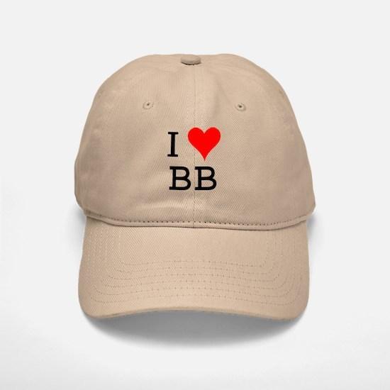 I Love BB Baseball Baseball Cap