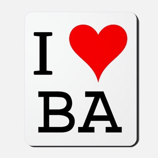 I Love BA Mousepad