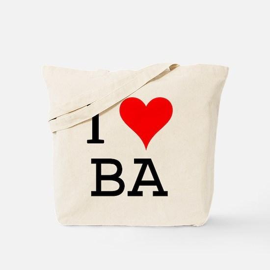 I Love BA Tote Bag