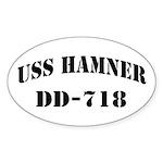 USS HAMNER Sticker (Oval)
