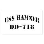 USS HAMNER Sticker (Rectangle)