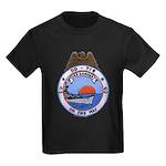 USS HAMNER Kids Dark T-Shirt