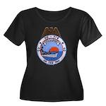 USS HAMN Women's Plus Size Scoop Neck Dark T-Shirt