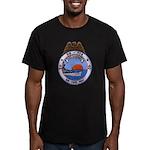USS HAMNER Men's Fitted T-Shirt (dark)