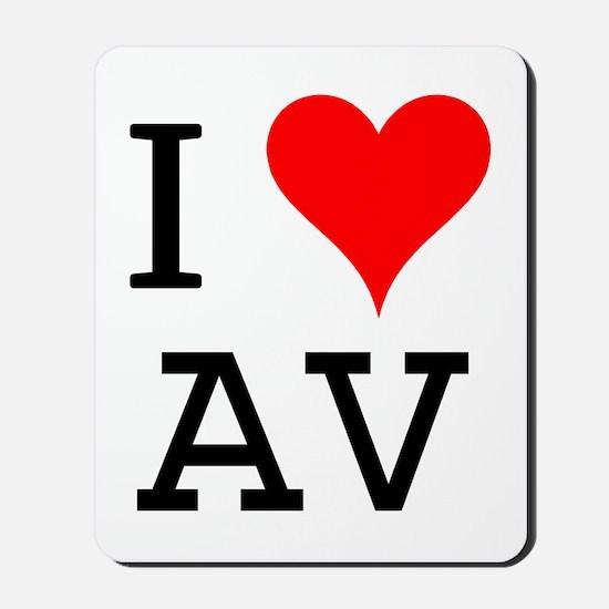 I Love AV Mousepad