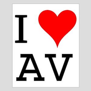 I Love AV Small Poster