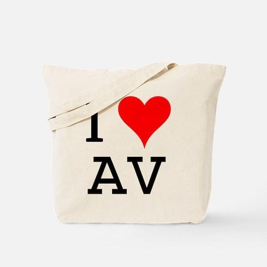 I Love AV Tote Bag