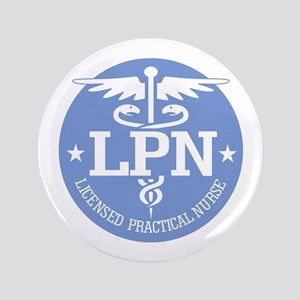 "Caduceus LPN 3.5"" Button"