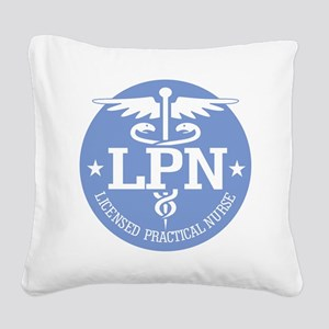 Caduceus LPN Square Canvas Pillow