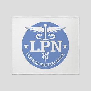 Caduceus LPN Throw Blanket