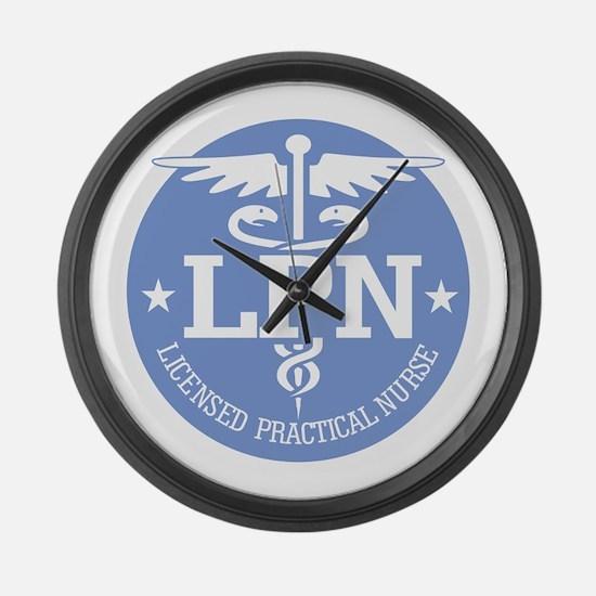 Caduceus LPN Large Wall Clock