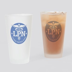 Caduceus LPN Drinking Glass