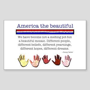 America the Beautiful Rectangle Sticker