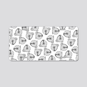 Old Time Bicycle Pattern Aluminum License Plate