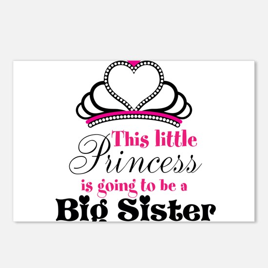 Big Sister to be Princess Postcards (Package of 8)