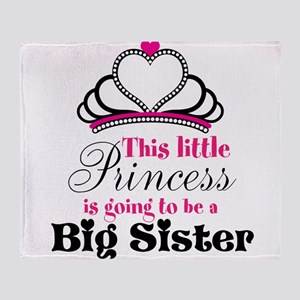 Big Sister to be Princess Throw Blanket