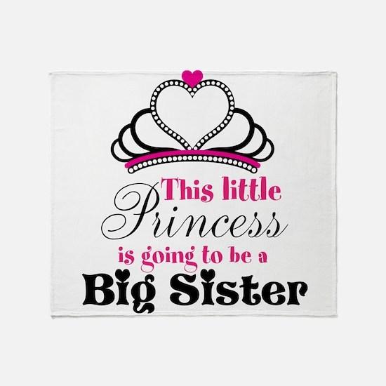 Big Sister to be Princess Throw Blanket