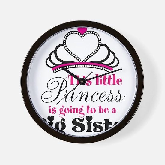 Big Sister to be Princess Wall Clock