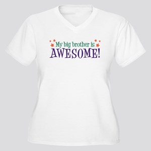 My Big Brother is Awesome Women's Plus Size V-Neck
