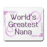 World's Greatest Nana Mousepad