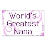 World's Greatest Nana Sticker (Rectangle)