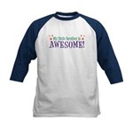 My Little Brother is Awesome Kids Baseball Jersey