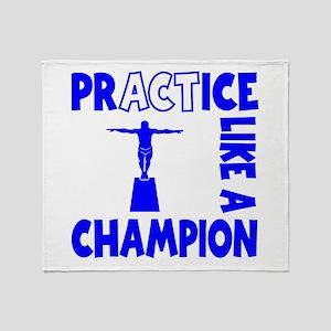 PRACTICE DIVING Throw Blanket