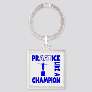 PRACTICE DIVING Square Keychain