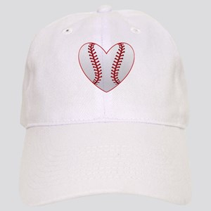 cute Baseball Heart Baseball Cap